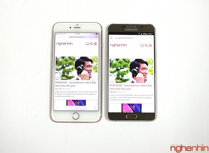 So sánh iPhone 6S Plus và Galaxy Note 5 ảnh 8