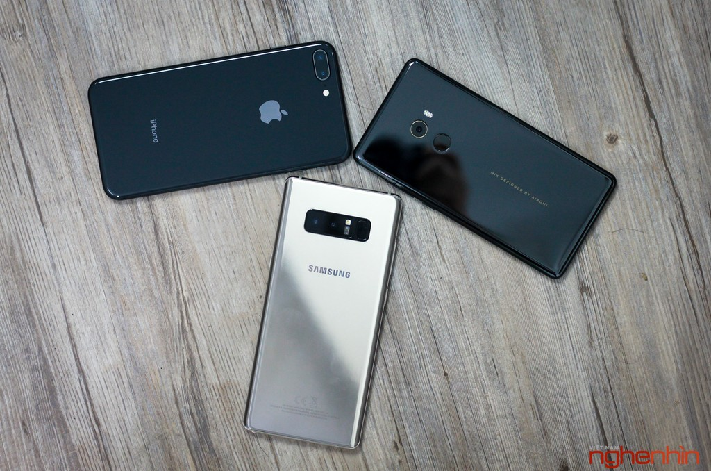 iPhone 8 Plus so dáng Galaxy Note 8 và Mi MIX 2  ảnh 8