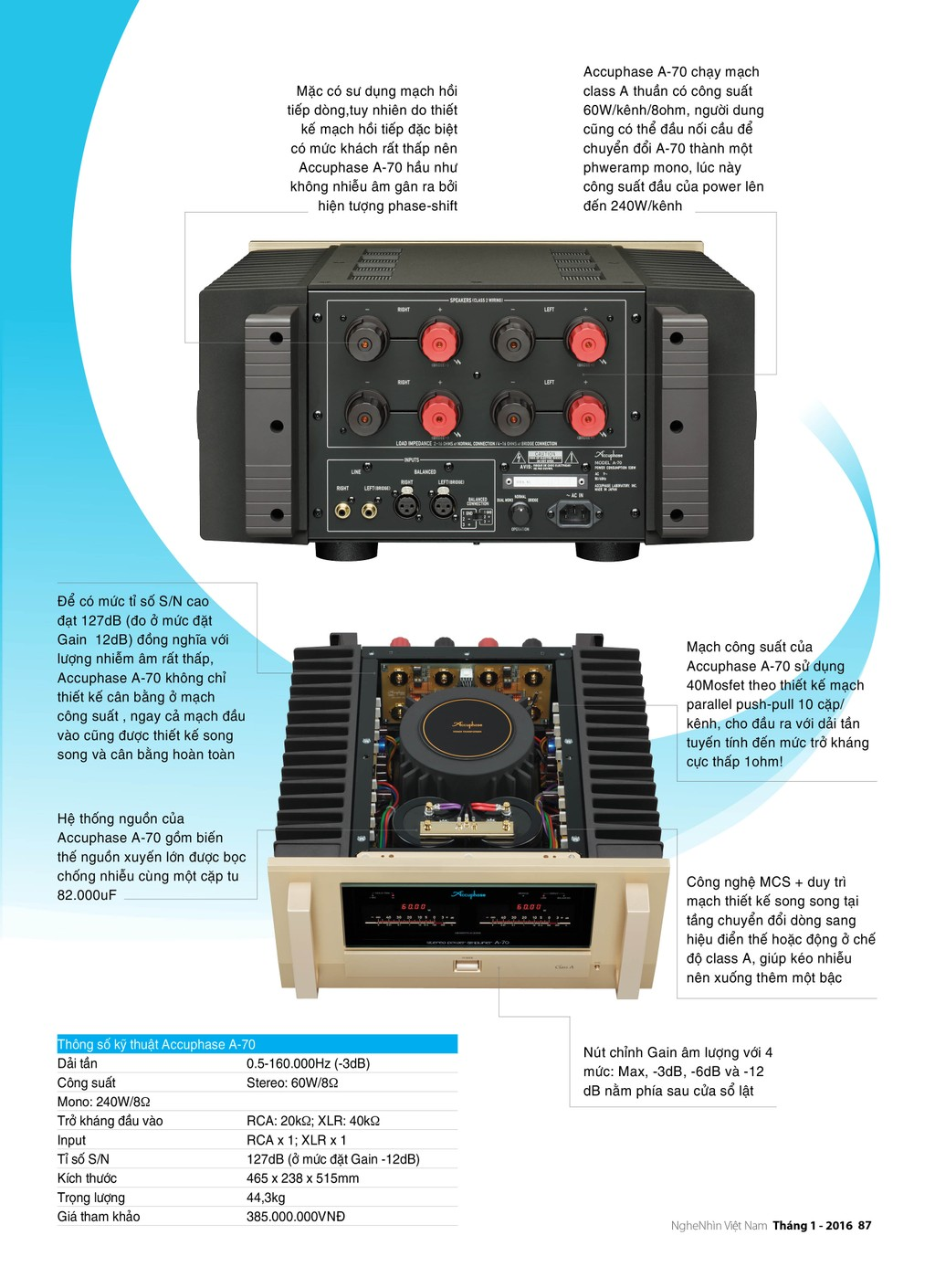 Editor's Choice 2015: Power Ampli Accuphase A-70 ảnh 2