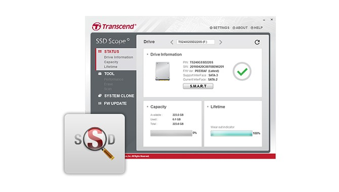 Transcend SSD230 Flash Nand 3D